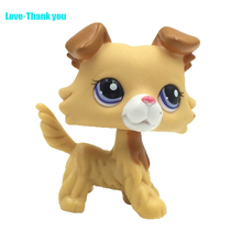 Cute LPS figure kids Collection toy dog COLLIE #2452 Children's gifts