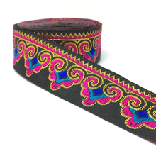 "ZERZEEMOOY NEW 1-1/4"" 33cm 7yard/lot single face HOT Black background metal silk geometry gorgeous cloud Woven Jacquard Ribbon(China)"