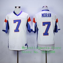 Blue Mountain State Alex Moran #7 American Football Jersey White Blue(China)