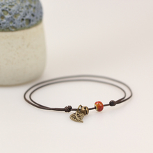 Simple Ceramic Anklets female original hand-woven fashion anklets leaf ceramic jewelry jewlries wholesale #DA2608(China)