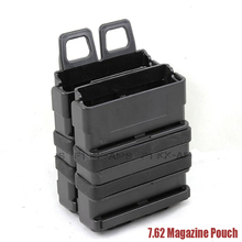 Tactical Molle FastMag Magazine Clip Set for 7.62 AK/M14 Black