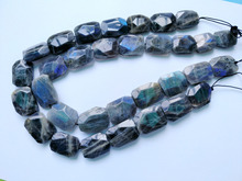 "worth buying 2 strings/lot Labradorite 18-28mm facet nugget gem stone loose beads,15.5""/string(China)"