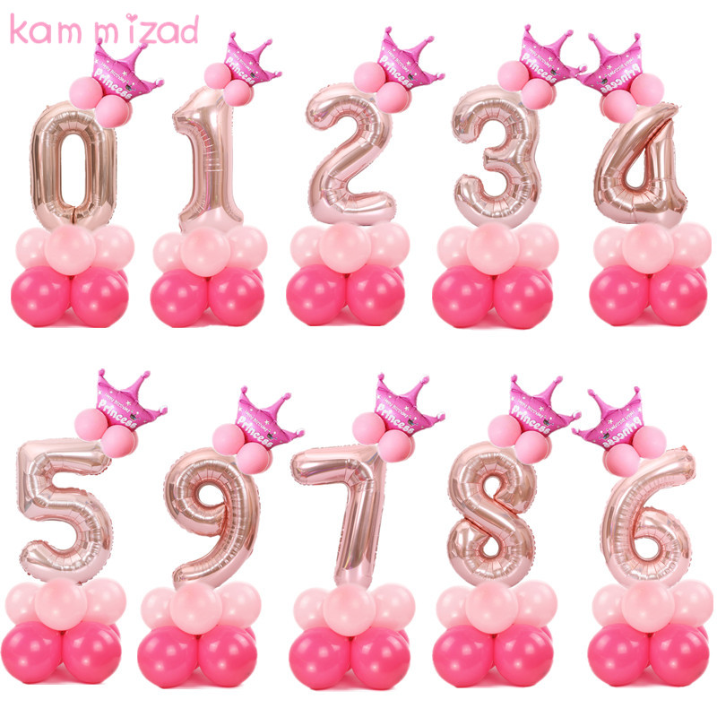 """40/"""" Silver Large Giant Foil Number Balloon Party Birthday 0 1 2 3 4 5 6 7 8 9"""