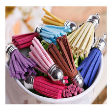 35mm Suede Tassel For Keychain Cellphone Straps Jewelry Charms 100pcs Faux Leather Tassels Diy Accessoire Boucle D Oreille