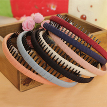New Fashion Multicolor Headband with Teeth Practical Cloth Hair Band for Women & Girls Hair Accessories Hairband Jewelry