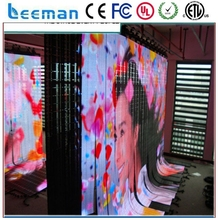 Leeman strip curtain mesh led round screen/ soft led curtain P3,p4,p5,p6,p8p10 Flexible curtain LED display screen flexible