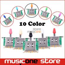 Colorful 3 Way Selector Electric Guitar Pickup Switches Guitar Toggle Lever Switches for Guitar