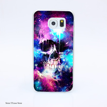 3100G Space Skull Ttj Print Hard Transparent Case Cover for Galaxy S3 S4 S5 & Mini S6 S7 & edge
