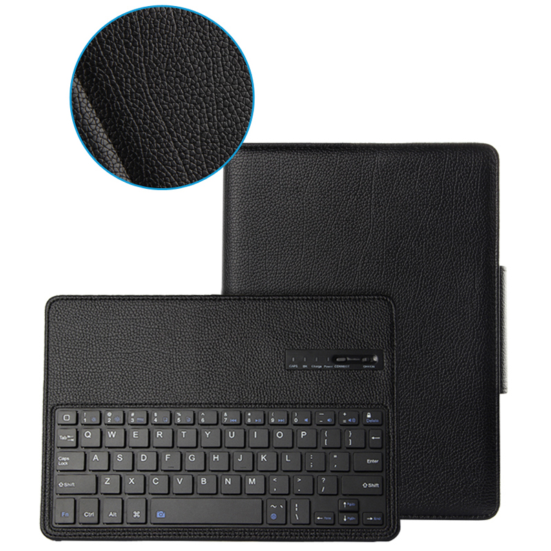 New 2017 Wireless Bluetooth Keyboard +PU Leather Cover Protective Case For iPad Pro 10.5 Case + Film + Stylus<br>