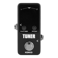 KOKKO Mini Pedal Tuner Guitarra Guitar Bass Violin Ukelele Stringed Instruments Tuner Effect Device Dual Display Free Shipping(China)