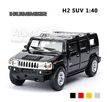 High Simulation Exquisite Collection Model Toys: KiNSMART Car Styling Hummer H2 SUV Model 1:40 Alloy Car Model Excellent Gifts(China)