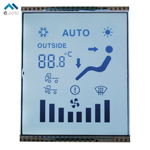 GDC1009 LCD Display With White Backlight LCD Sreen 12 O'clock 5.0V TN Segment 56.5x70.5x2.8mm For Auto-Meter