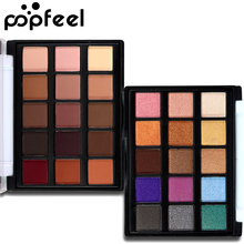 2017 Makeup Mini Eye Palette Shimmer and Matte Color Cosmetics Pigment 15 Color Warm Nude Popfeel Brand Matte Eyeshadow Palette(China)