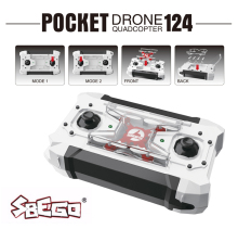 SBEGO FQ777-124 Mini Drone Kit Micro Pocket 4CH 6Axis Gyro Switchable Controller RC Helicopter Kids Toy Mini Quadcopter VS h37