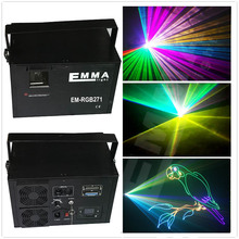 Hight quality 5W mini laser light DMX 512 music control RGB 5000mw Laser Stage Light Laser Projector
