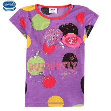 4 colors Nova kids wear girl t shirt clothes summer printed girl fashional style baby tops children's clothes for 4-8years(China)