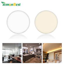 Indoor Decoration Round Surface LED Panel Light Ceiling Lamp Slim Narrow Frame Large Luminous Area Integrated Driver AC 85-265V