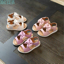 Buy New Children PU Girls Sandals Princess Summer Kids Shoes Fashion Bowknot Girls Flat Casual Shoes child girl Beach Sandals for $6.89 in AliExpress store