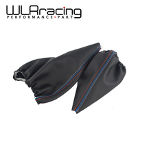 WLRING- Shift Gear Stick Manual Handbrake Gaiter Shift Boot Leather Boot Car-Styling For BMW 3 Series E36 E46 M3 Car WLR-SBC13