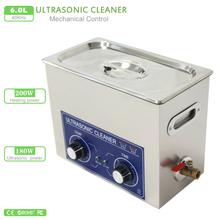 6L Ultrasonic cleaner 220V 180W 110V PS-30 heater & timer 40KHZ wash machine for electronic Dentures clean Watch Motherboard pcb