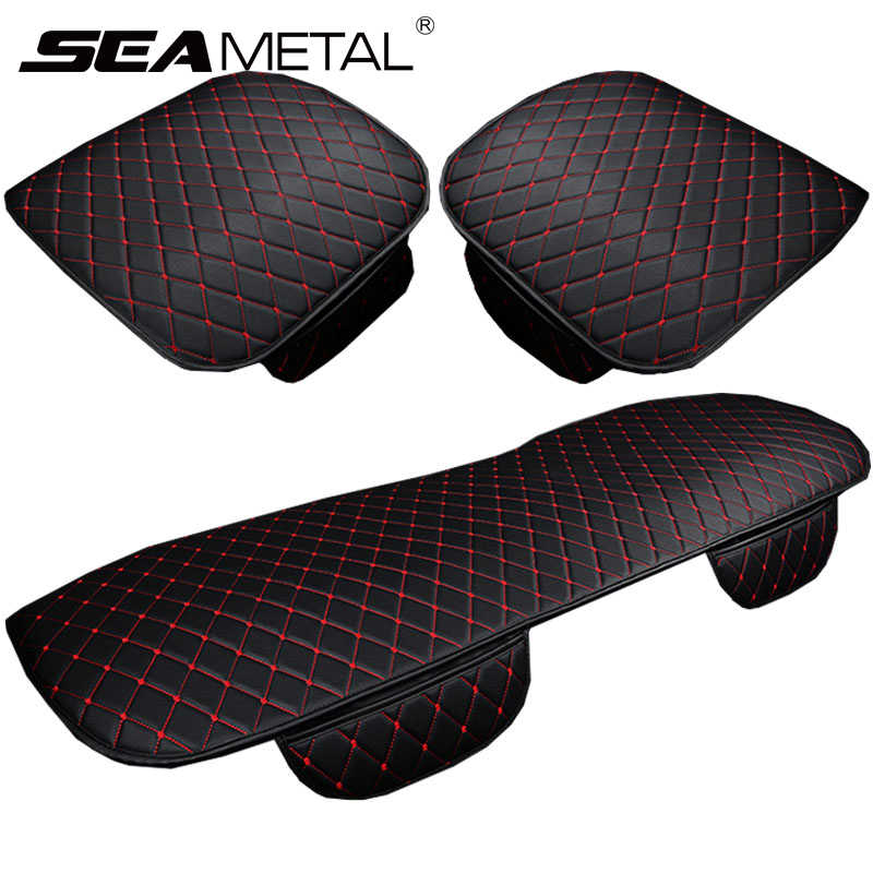Car Accessories Pu Car Seat Covers Set Universal Auto Seat Cover PU Leather Automobile Chair Pad Cars Front Back Protect Cushion