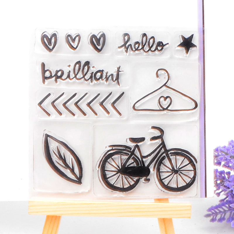 Clear Stamp Scrapbook DIY photo cards rubber stamp seal stamp Bicycle Design transparent silicone transparent stamp<br><br>Aliexpress
