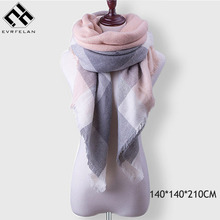 Winter Plaid Women's Scarf Brand Female Cashmere Shawl Fashion Winter Scarf For Women Warm Scarves Pashmina Blanket Scarf