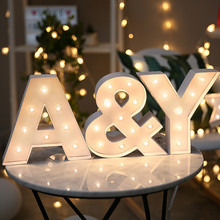 Wooden LED Module English Letter Light Sign Indicator Lighting Festivals Party Indoor Room Home Store LED Modules