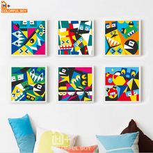COLORFULBOY Modern Fashion Character Graffiti Canvas Painting Wall Art Posters And Prints Wall Pictures For Living Room Decor(China)