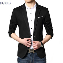 FGKKS New Arrival Luxury Business Casual Suit Men Blazers Set Professional Formal Wedding Dress Beautiful Design Plus Size M-6XL