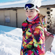 Winter Women Ski Jacket Outdoor Snow Sportwear Men Snowboarding Large Size Ski Suit Brand Snow Wear Gsou Snow Certified Products(China)