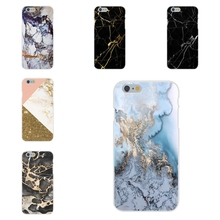 Soft TPU Silicon Print Case Black And Rose Gold Marble Split For Apple iPhone 4 4S 5 5C SE 6 6S 7 7S Plus 4.7 5.5