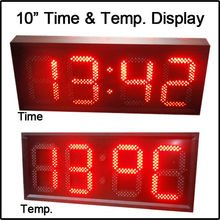 "10"" red color,temperature,time,led clock,led module,7 segment of the modules, semi-outdoor,LED SIGNS,LED GAS PRICE(China)"