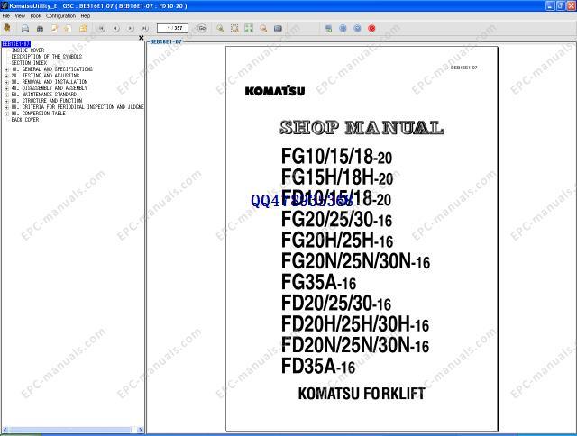 Komatsu forklift repair 2012<br><br>Aliexpress
