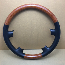 Car Interior Wood Style Car Snap-on Steering Wheel Cap Cover Trim For Toyota Land Cruiser GXL V8 UZJ100 J100 2003-2007(China)
