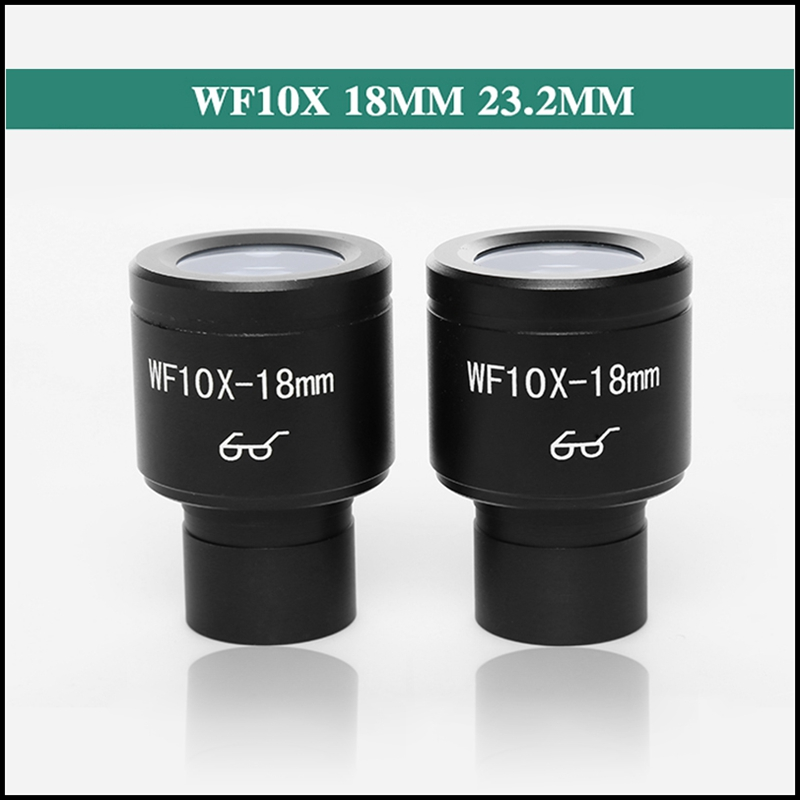 Free Shipping 2 PCS WF10X Biological Microscope Eyepiece Wide Field High Eye Points Lens with 23.2MM Mounting Caliber<br><br>Aliexpress