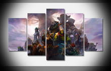 7369 World of Warcraft heroes Poster Framed Gallery wrap art print home wall decor Gift wall picture Already to hang digital(China)
