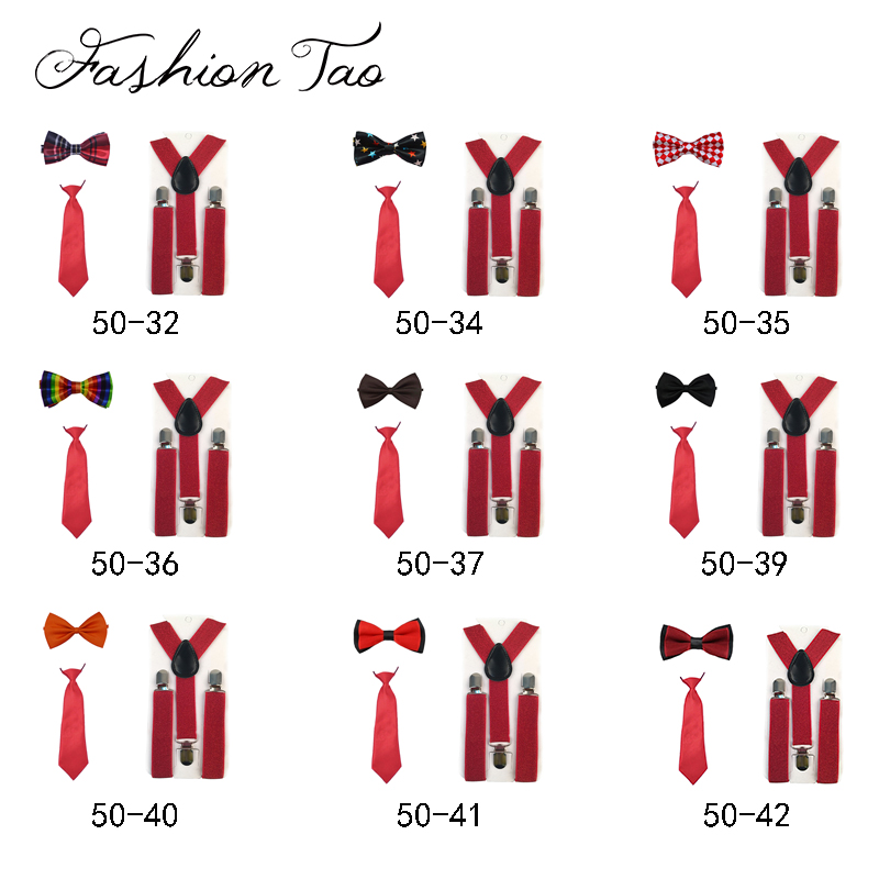 9 PCS Kids Boys Girls Children red Christmas  Wedding Trousers Pants Y-Back Clip-on Adjustable Elastic Braces Suspenders ZH4<br>