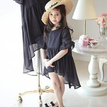 2017 Kids Dresses For Girls 10 Years Black Childrens Fancy Dress Party Dress For Teenage Girl Clothes Baby Girl Summer Dress
