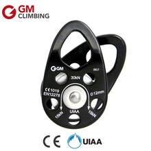GM Climbing Pulley CE / UIAA 30kN Swing Cheek Micro Rope Pulley 1/2in Rope Rigging Arborist Rock Climbing Caving Mountaineering(China)