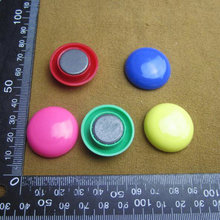 Hot sale !! Super N35 Colorful magnet 10PCS D30mm neodymium fridge sticking magnetic pins drawing paper whiteboards fastener(China)