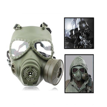 Military Airsoftsports Tactical Fan Gas Canister Mask Face Protector Wargame Paintball Equipment
