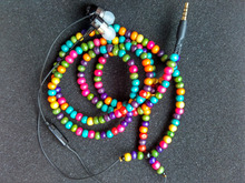 diy colored earphone with mic Wood Beads