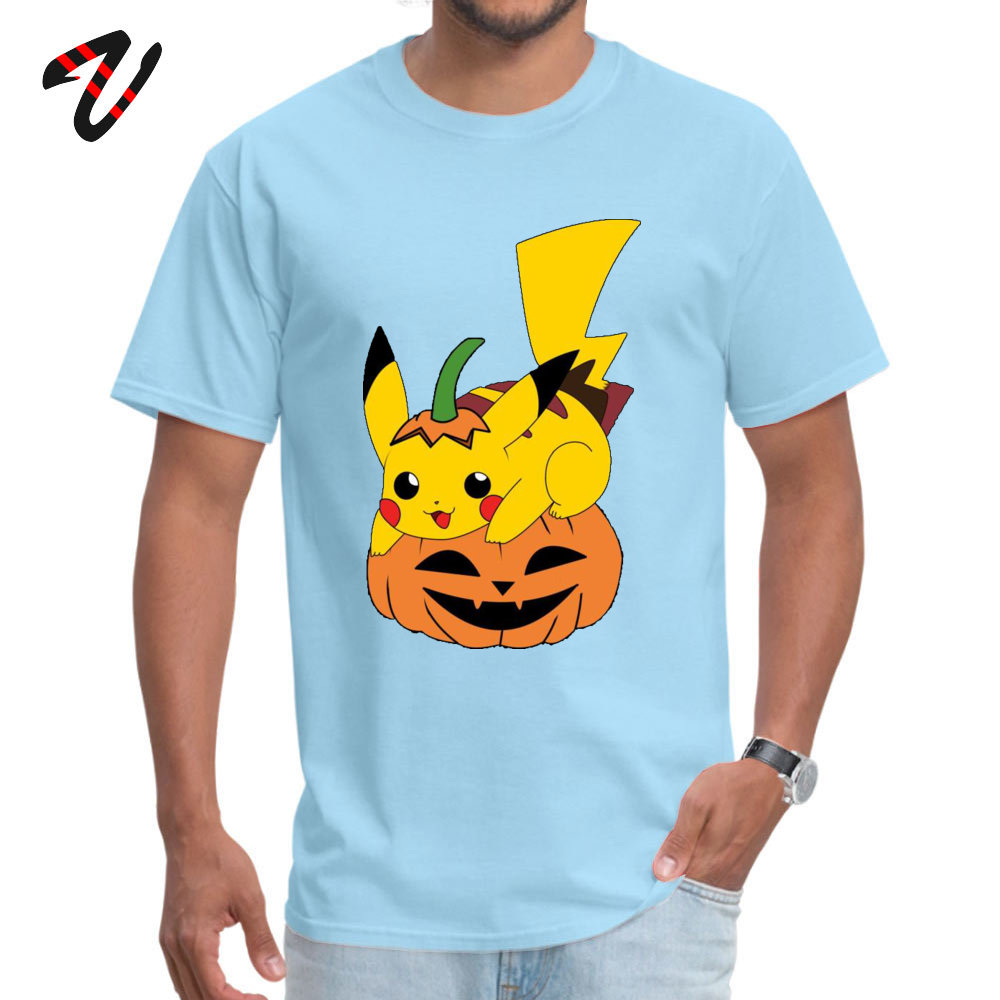 Printed On Short Sleeve Tops & Tees Mother Day Graphic Crew Neck Cotton Tops Shirt Student T-Shirt PikachuHalloweenPokemon PikachuHalloweenPokemon light