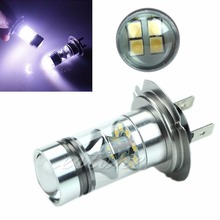 Super Bright H7 6000K 100W LED Fog DRL Driving Car Head Light Lamp Bulbs White-D2TB