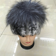 2016 new real women winter rex mink fur hat with a silver fox fur and rabbit knitting wool lined with 011D