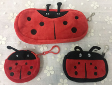 Kawaii 7-20CM 3Sizes , Plush Toys , Ladybug Plush BAG Toy For Gift , Key Chain Pendant Plush Bag Toys(China)