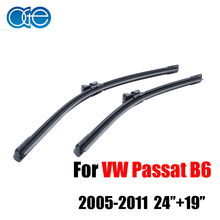 Oge 24''+19'' Wiper Blades For VW Passat B6 3C Estate 2005 2006 2007 2008 2009 2010 2011 High-Quality Rubber Car Accessories