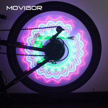 2017 MOVIGOR 30 Kinds Colored Bicycle Tires Valve Spoke Light 32 LED MTB Road Bike Flashlight Wheel Light Bicicletas Accesorios