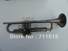 Bach grind arenaceous black nickel on the surface of artificial carve patterns or designs on woodwork brass Bb trumpet(China)
